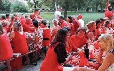 Cena in rosso di solidarietà